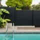Beautiful black fence surrounding pool canada