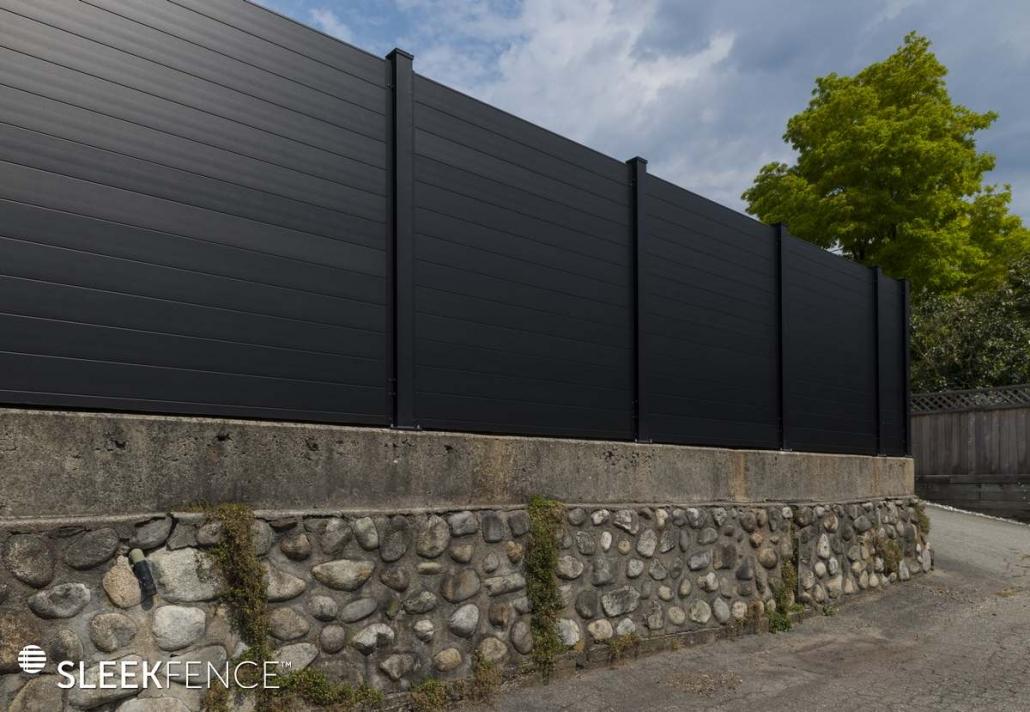 Sleek Modern aluminum privacy fence