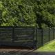 Sleek Screen - Horizontal Slat aluminum fence and gate