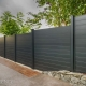 Sleek black privacy fence