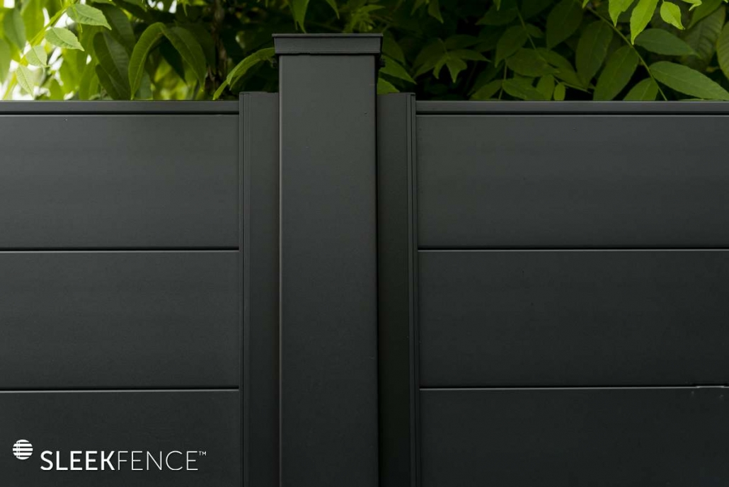 Sleek privacy fence close up