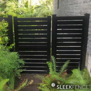 sleek-fence-aluminum-black-screen-gate